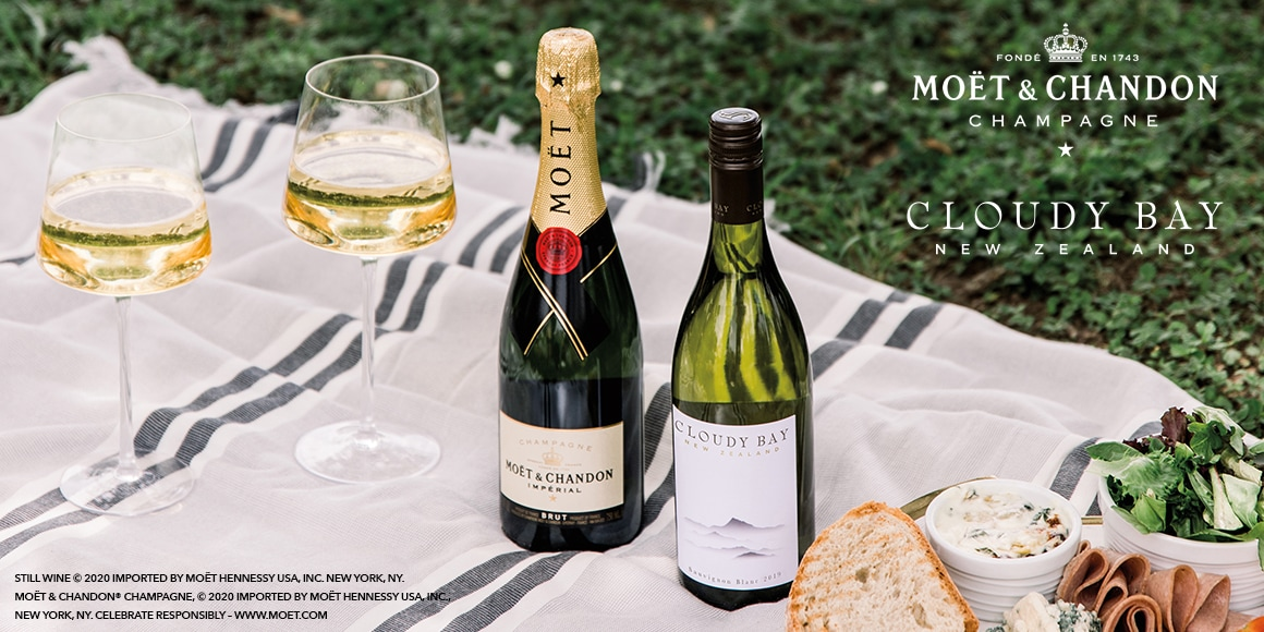 Moët Impérial and Cloudy Bay Sauvignon Blanc